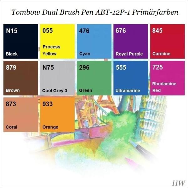 Primärfarben tombow dual brush pen abt 12p 1 primärfarben