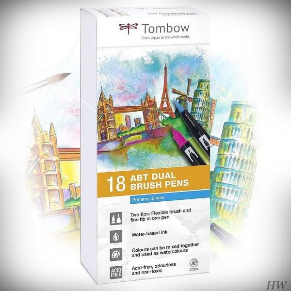 Prim Rfarben tombow dual brush pen abt 18p 1 primärfarben