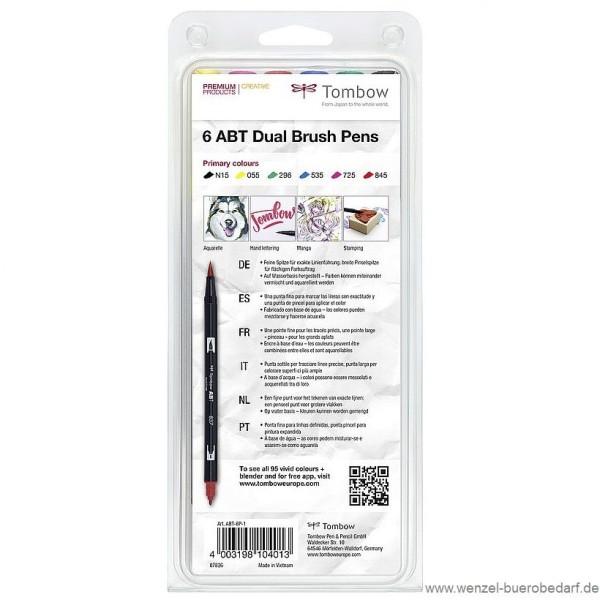 Prim Rfarben tombow dual brush pen abt 6p 1 primärfarben