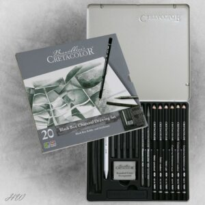 Cretacolor Black Box Charcoal-Set