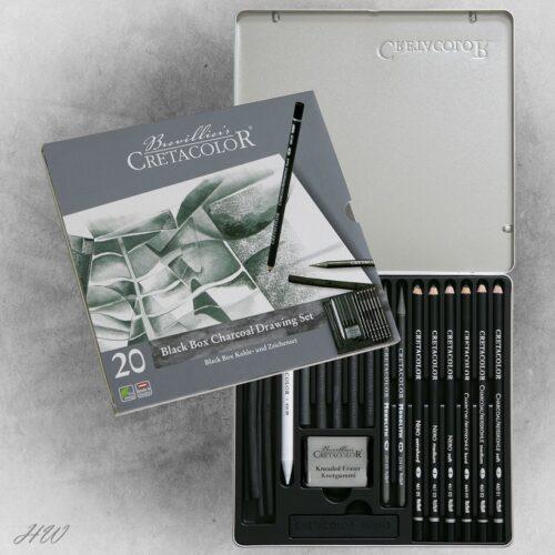 Cretacolor Black Box Charcoal-Set