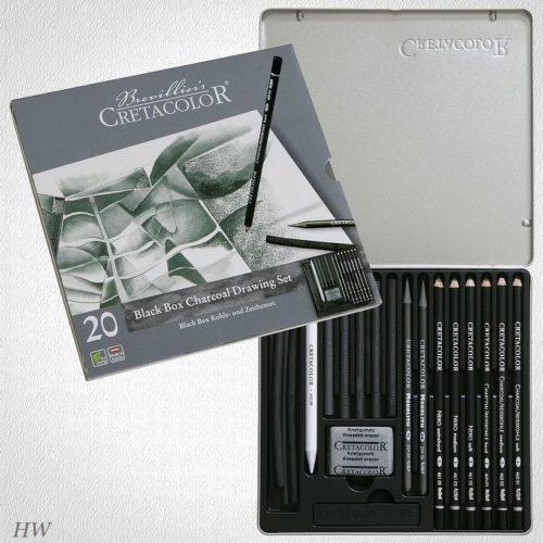 Cretacolor Black Box Charcoal-Set 40030