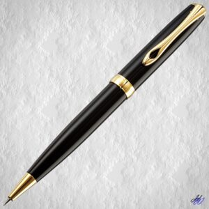 Diplomat Drehbleistift Excellence A2 Lack schwarz-gold