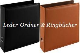 Leder-Ordner & Ringbücher