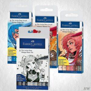 Faber Castell Pitt Artist Pen Manga-Sets