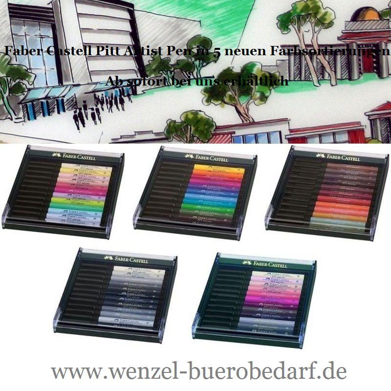 Faber Castell Pitt Artist Pen in 5 neuen Farbsortierungen
