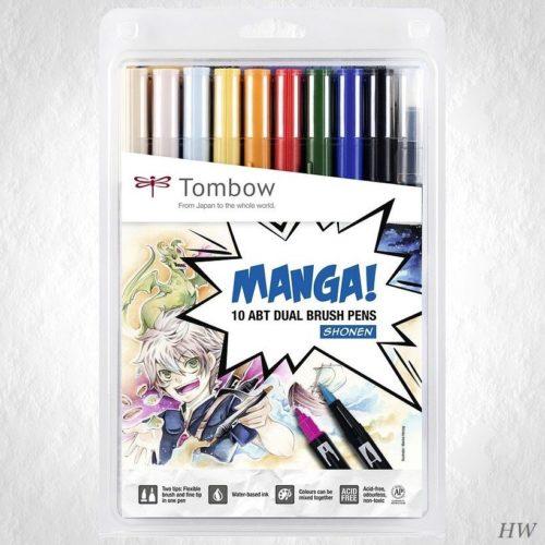 Tombow Dual Brush Pen Manga Set Shonen