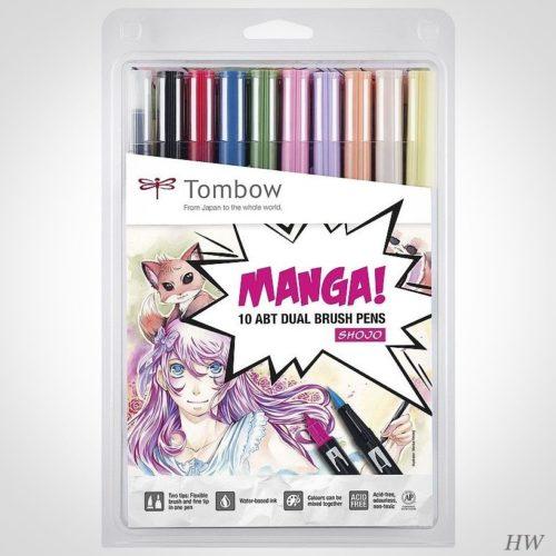 Tombow Dual Brush Pen Manga Set Shojo