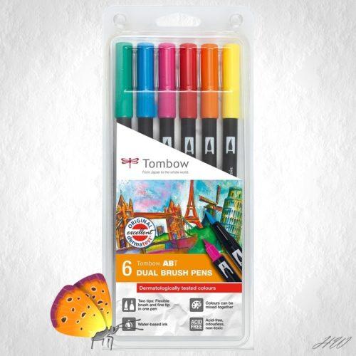 Tombow Dual Brush Pen ABT-6P-3