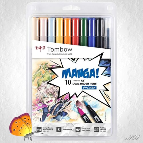Tombow Dual Brush Pen ABT-10C-Manga1