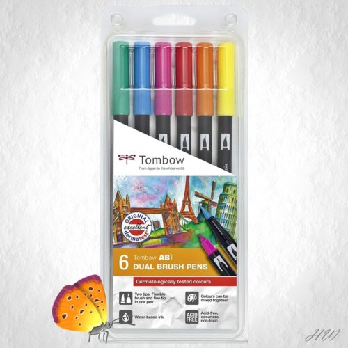 Tombow Dual Brush Pen ABT-6P-3