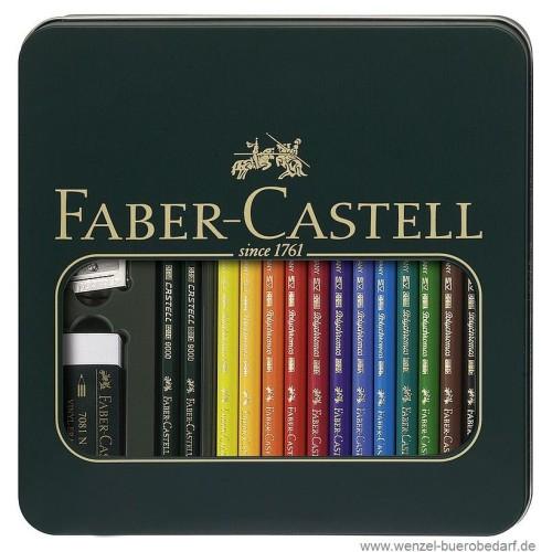 Faber Castell Polychromos Künstler-Set Mixed Media-110040_4005401100409