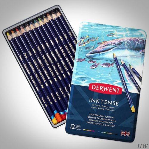 Derwent Künstler-Aquarellstifte Inktense 12