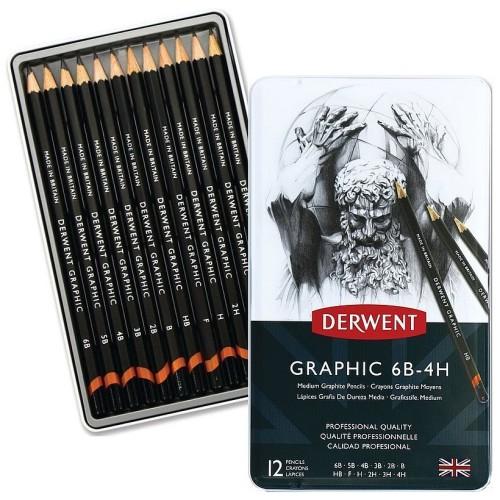 Derwent Graphitstifte-Set Graphic 12M