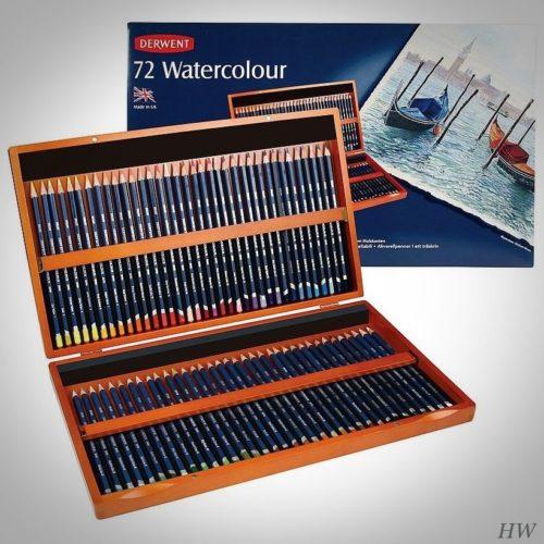 Derwent Künstler-Aquarellstifte Watercolour 72er-Holzkassette