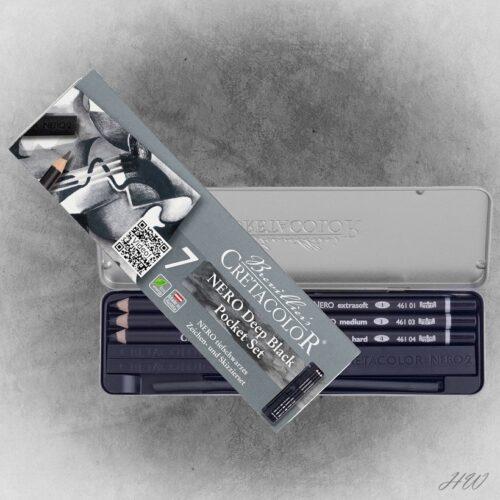 Cretacolor Skizzier-Set Nero 40008