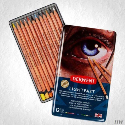 Derwent Lightfast Farbstifte 12