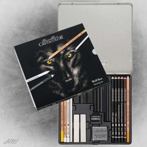 Cretacolor Wolf Box Zeichen-Set