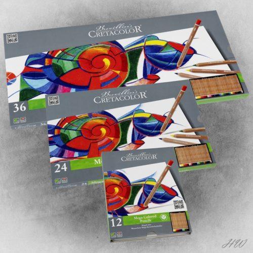 Cretacolor Megacolor Künstlerfarbstifte