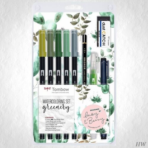 Tombow Watercoloring Set Greenery