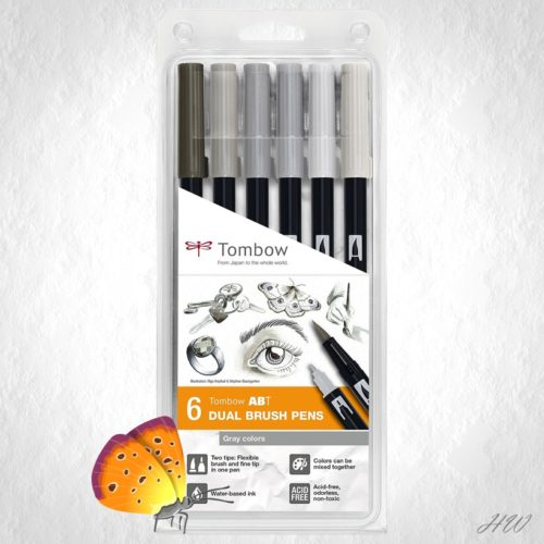 Tombow Dual Brush Pen ABT-6P-6