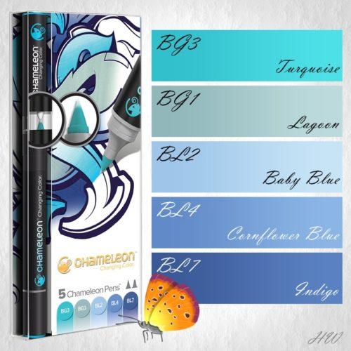 Chameleon Pens Blue Colors