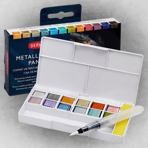 Derwent Metallic Paint Pan